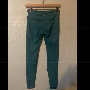Women's teal full length lululemon leggings